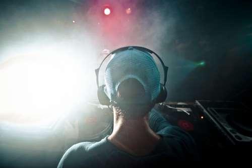 Dj Music Headphones Concert Show Spotlights