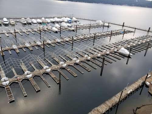 Dock Side Water Boat Lake