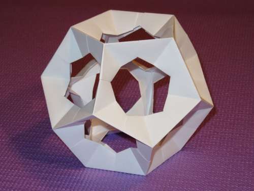 Dodecahedron Platonic Solid Origami Paper Pentagon