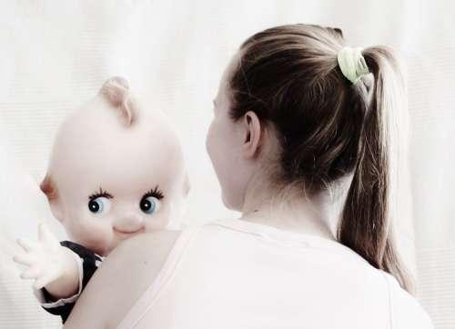 Doll Nostalgia Girl Plait Children Toys Old Mama