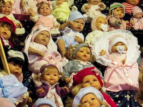 Dolls Faces Children Toys