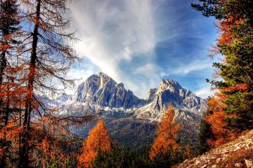 Dolomites Mountains Italy Alpine View Nature