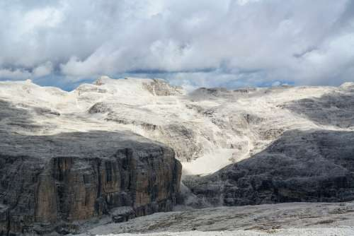 Dolomites Italy Alpine Sella Landscape Rock