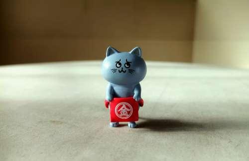 Domestic Cat Kitten Pet Cute Toy Figurine Figure