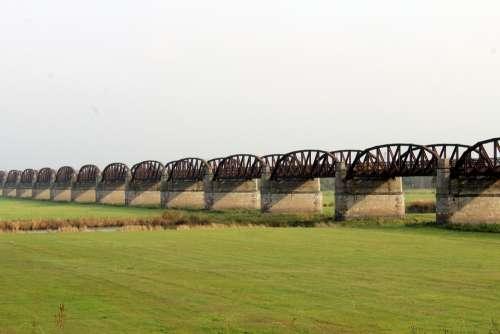 Domitzer Railway Bridge Bridge Railway Bridge