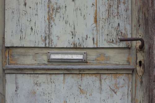 Door Mailbox Old Wood Wooden Door Antique