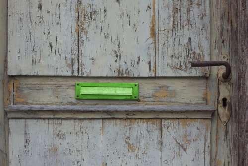 Door Mailbox Old Wood Wooden Door Antique