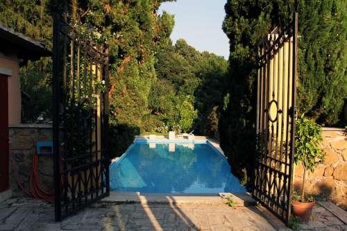 Door Pool Garden