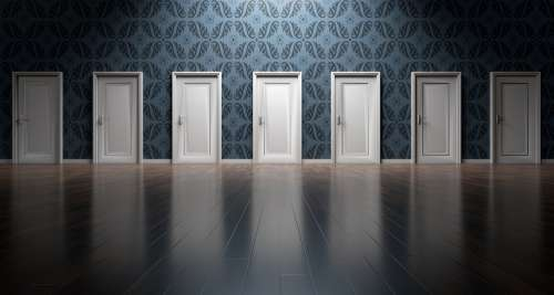 Doors Choices Choose Decision Opportunity Choosing