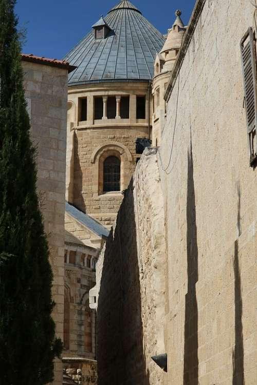 Dormition Abbey Jerusalem Monks Monastery Christian
