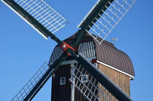 Dornum East Frisia Northern Germany Wind Power Mill