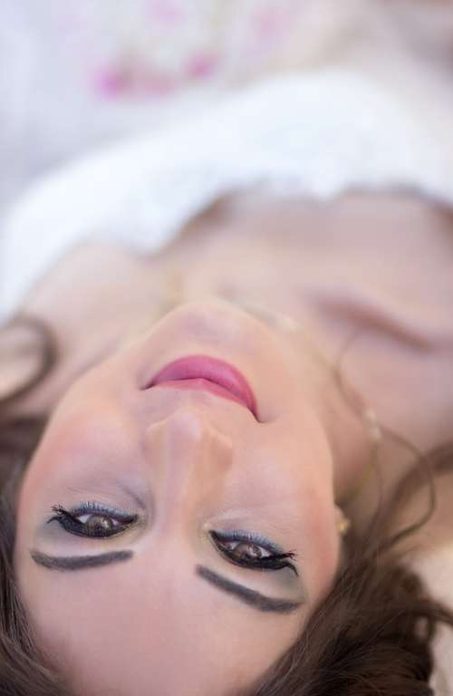 Wedding Bride Woman Beauty Face Portrait Make-Up