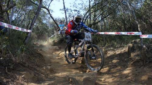 Downhill Jump Bicycle Mountain Athlete Exercise