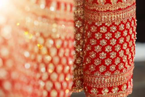 Dress Indian Dress Traditional Texture Red Pattern