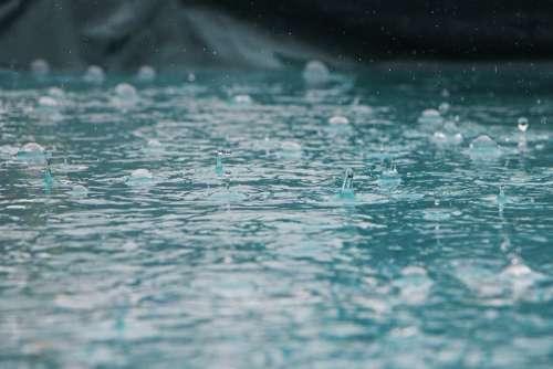 Drip Rain Drop Water Wet Nature Liquid Blue