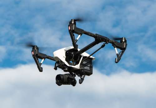 Drone Multicopter Dji Inspire Aerial View Camera