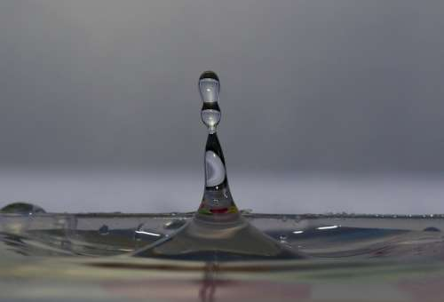Drops Splash Coloring Water Macro Splashing