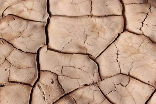 Drought Cracks Dry Surface Cracked Mud Terrain