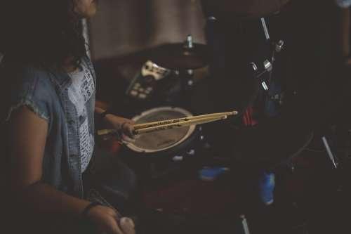 Drummer Drums Drumsticks Band Rock Band Music