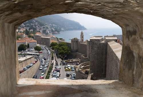 Dubrovnik Croatia Wall Opening Lookout