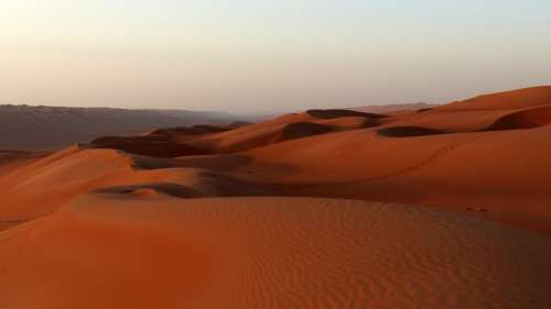 Dune Sunset Desert Oman Landscape Sand Dunes