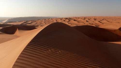 Dune Desert Oman Sunset Dunes Landscape Sand
