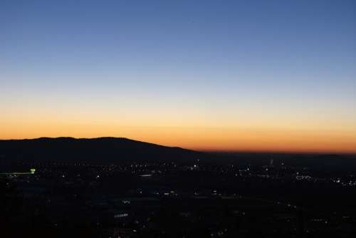 Dusk Sunset Sky Nature Dawn Horizon Panoramic