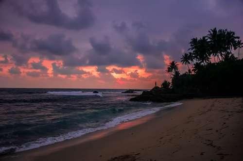 Dusk Beach Sunset Sea Ocean Sunrise Water Sky