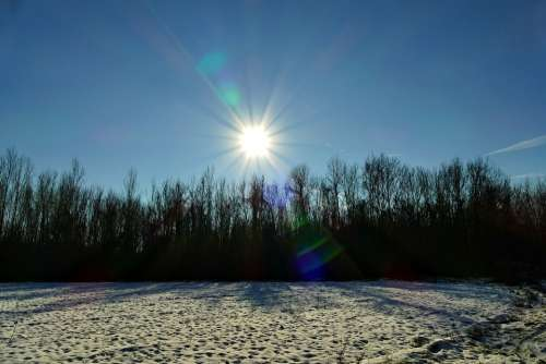 East The Sun Nature Country Snow Winter Rays