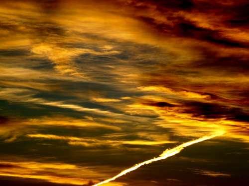 East Sun Cloud Red Landscape Sky