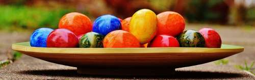 Easter Easter Eggs Colorful Happy Easter Egg