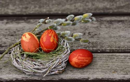 Easter Eggs Easter Nest Easter Decoration Easter