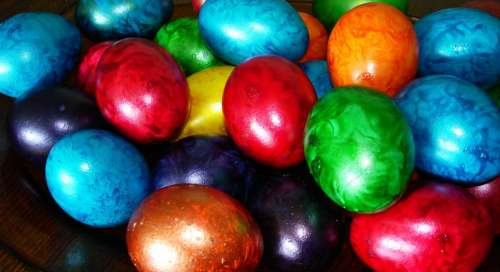 Easter Eggs Easter Eggs Holiday Colorful Colors