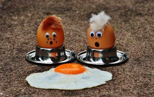 Egg Fried Mourning Fun Funny Cute Food Yolk