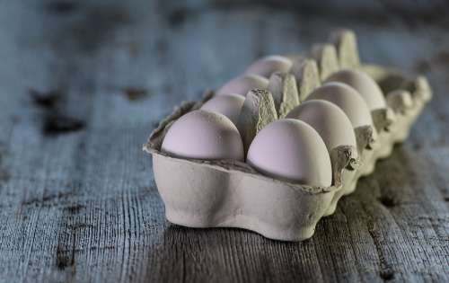 Eggs Raw Dairy Closeup Rustic Traditional Food
