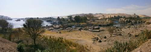 Egypt Aswan Nile Elephantine Desert