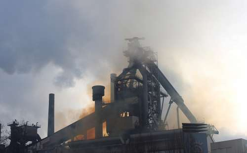 Eisenwerk Industry Blast Furnace Silhouette