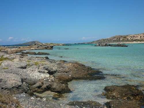 Elafonissi Crete Greece Mediterranean Costa