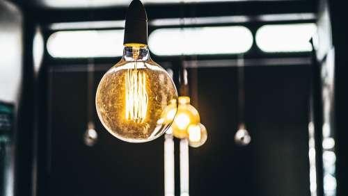 Electricity Illuminated Light Bulbs Lights Macro