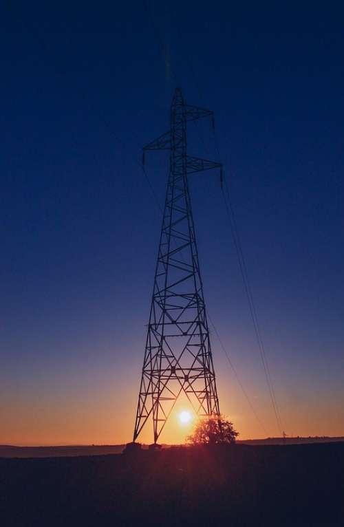 Electricity Sunset Eletrika Leadership