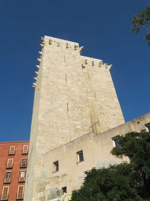 Elephant Tower Sardinia Cagliari Historic Center