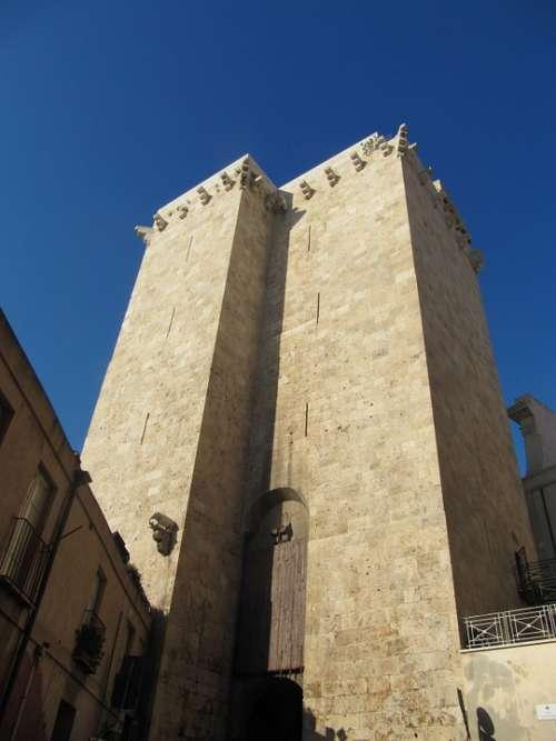 Elephant Tower Cagliari Sardinia Historic Center