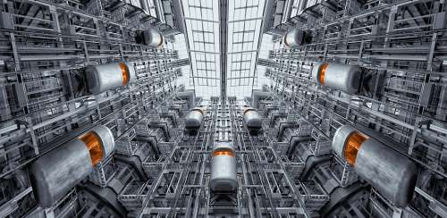 Elevator Berlin Ludwig Erhard Haus Architecture