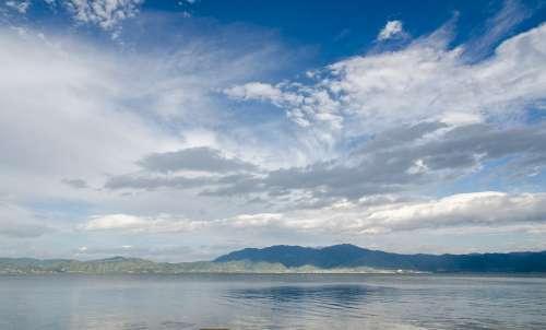 Erhai Lake Blue Sky White Cloud