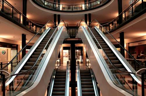 Escalator Stairs Metal Segments Architecture