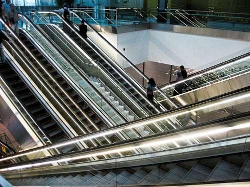 Escalator Stairs Railway Station Airport