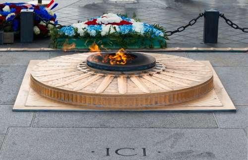 Eternal Flame Arc De Triomphe Paris France Landmark