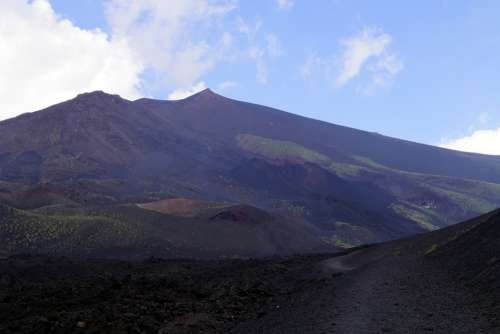 Etna Volcano Sicily Italy Etna Volcano