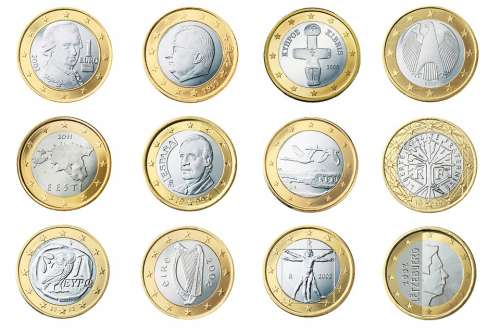Euro 1 Coin Currency Europe Money Wealth