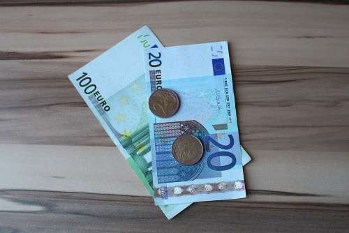 Euro Money Bills Paper Money Coins